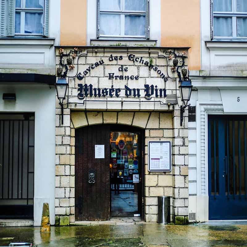 entrada del museo del vino