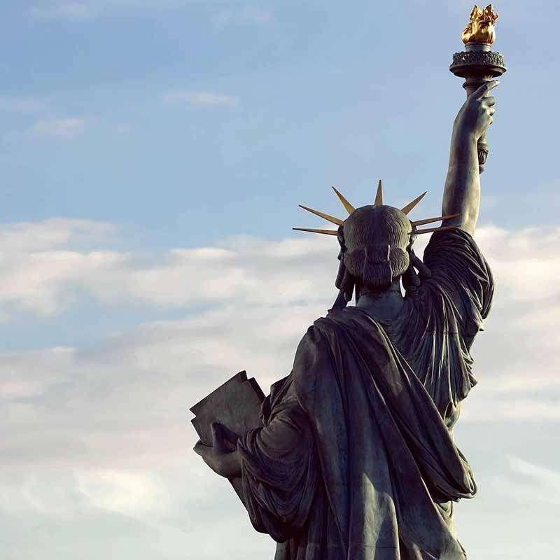 estatua de la libertad paris altura